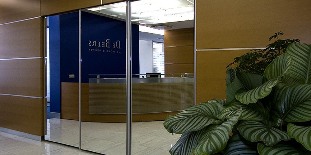 Интерьер офиса компании De Beers в Москве