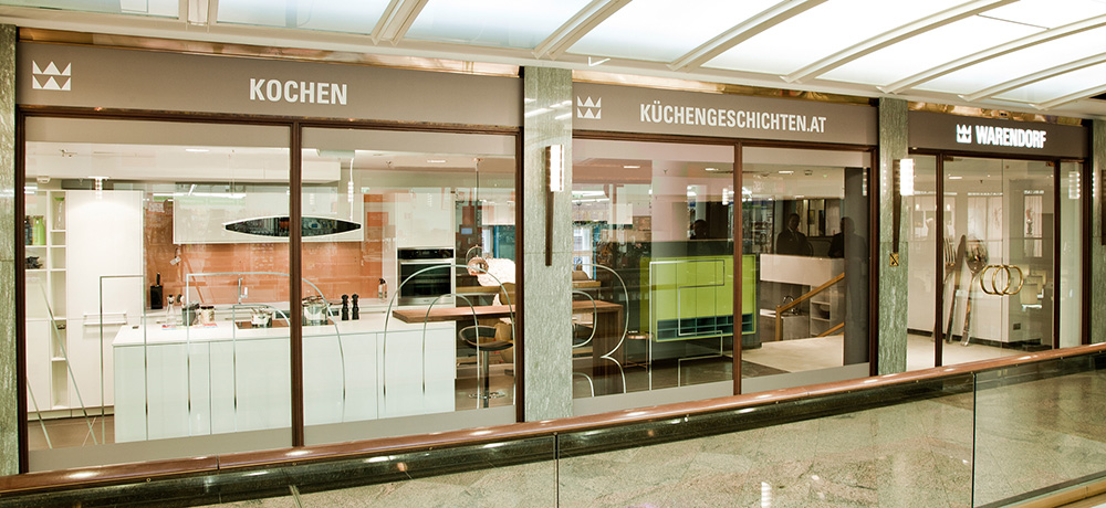 Дизайн интерьера студии Warendorf в Вене Küchen Studio Warendorf Wien
