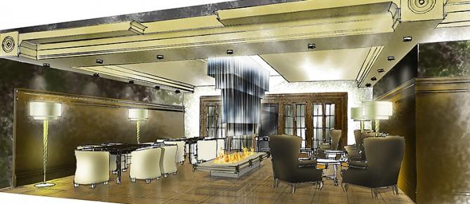 Дизайн интерьера сигарного салона, Лихтенштайн