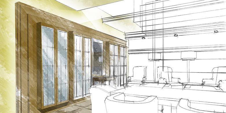 Дизайн интерьера сигарного салона Лихтенштайн