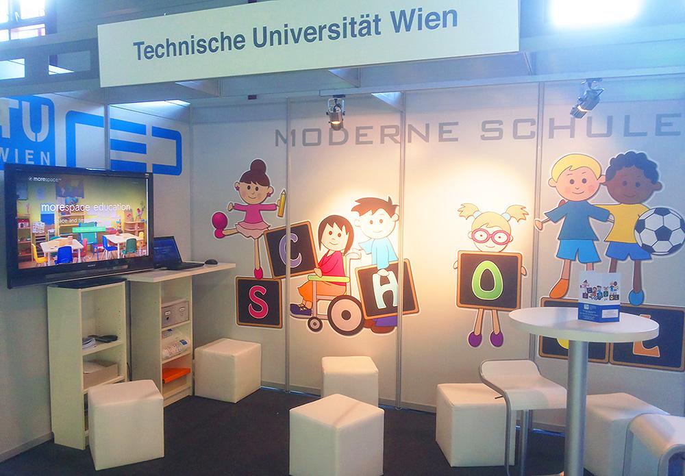 Kommunkationsdesign TU Wien Messestand Manheim